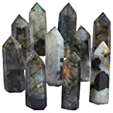 rockcloud Labradorite Healing Crystal Point Faceted