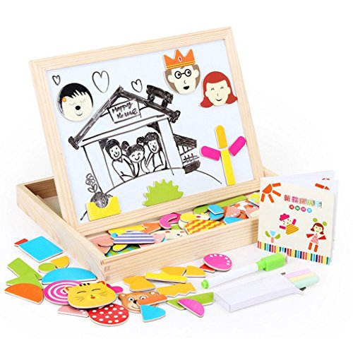 Lewo Wooden Magnetic Maze Educational Toys Dry Erase Easel Board Puzzles Games for Kids (Magnetic Maze) by Lewo
