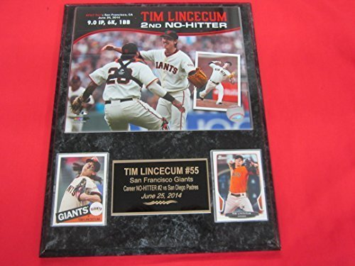 Hitters Francisco Giants No San - Tim Lincecum SF Giants NO HITTER 2 Card Collector Plaque w/8x10 Photo