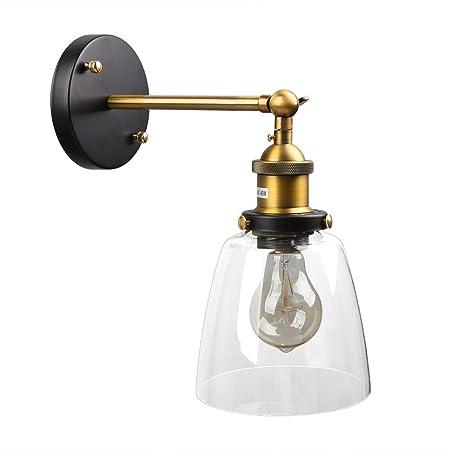 Amazon.com: Fuloon Retro Estilo Industrial Lámpara de pared ...