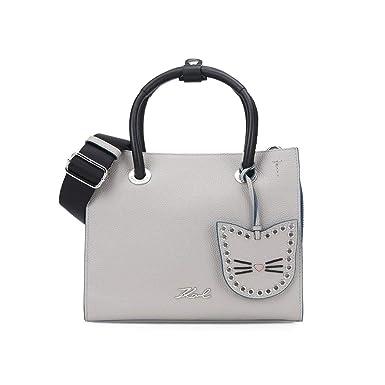 Karl Lagerfeld Accesorios de Mujer Bolso Mini Shopper K/Karry All Gris Otoño Invierno 2019: Amazon.es: Ropa y accesorios