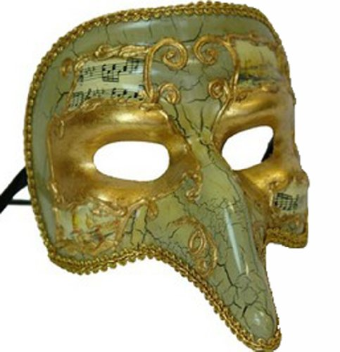 Pulcinella Costume (Venetian Mask Pulcinella Cracked White Mardi Gras Halloween Costume)
