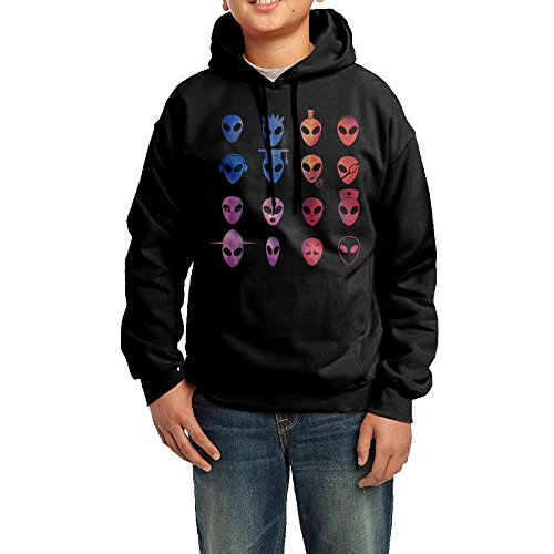 Alien Family Icons Laser Little Boys' Hoodies Pullover Hooded Sweatshirts L