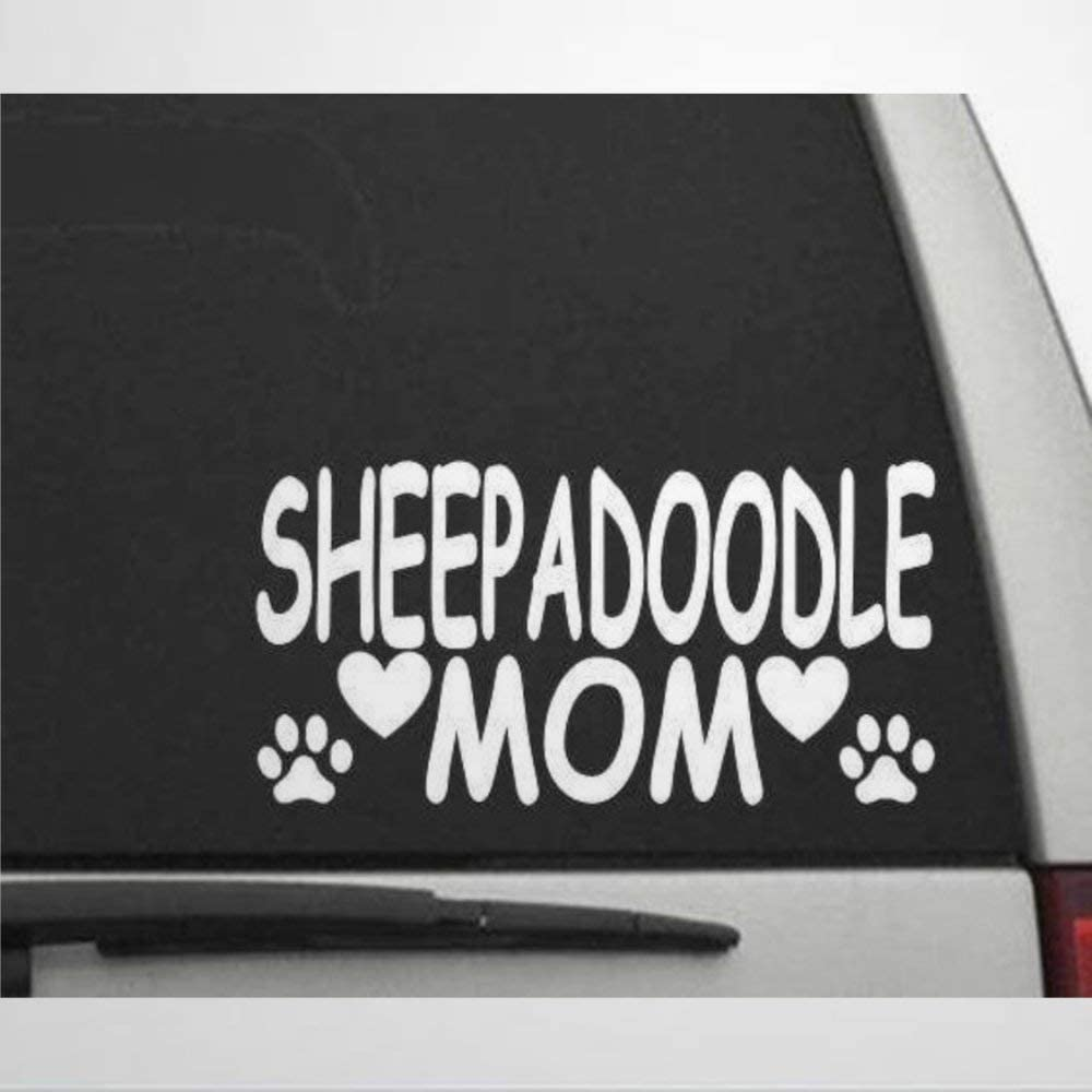 Sheepadoodle Mom Decal Stickers Car Decal Window Decal Vinyl Decal Die Cut Decals Funny Laptop Stickers Bumper Stickers Present