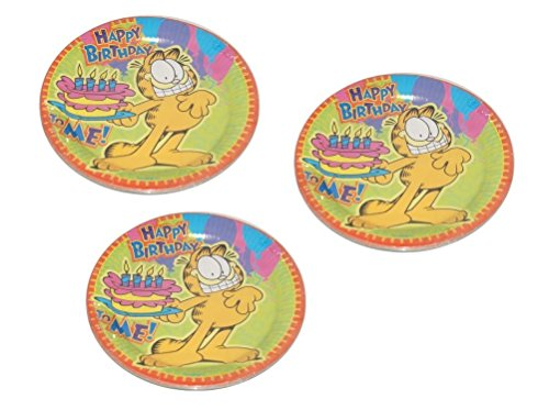 Garfield Happy Birthday Lunch Party Paper Plates - 24 -
