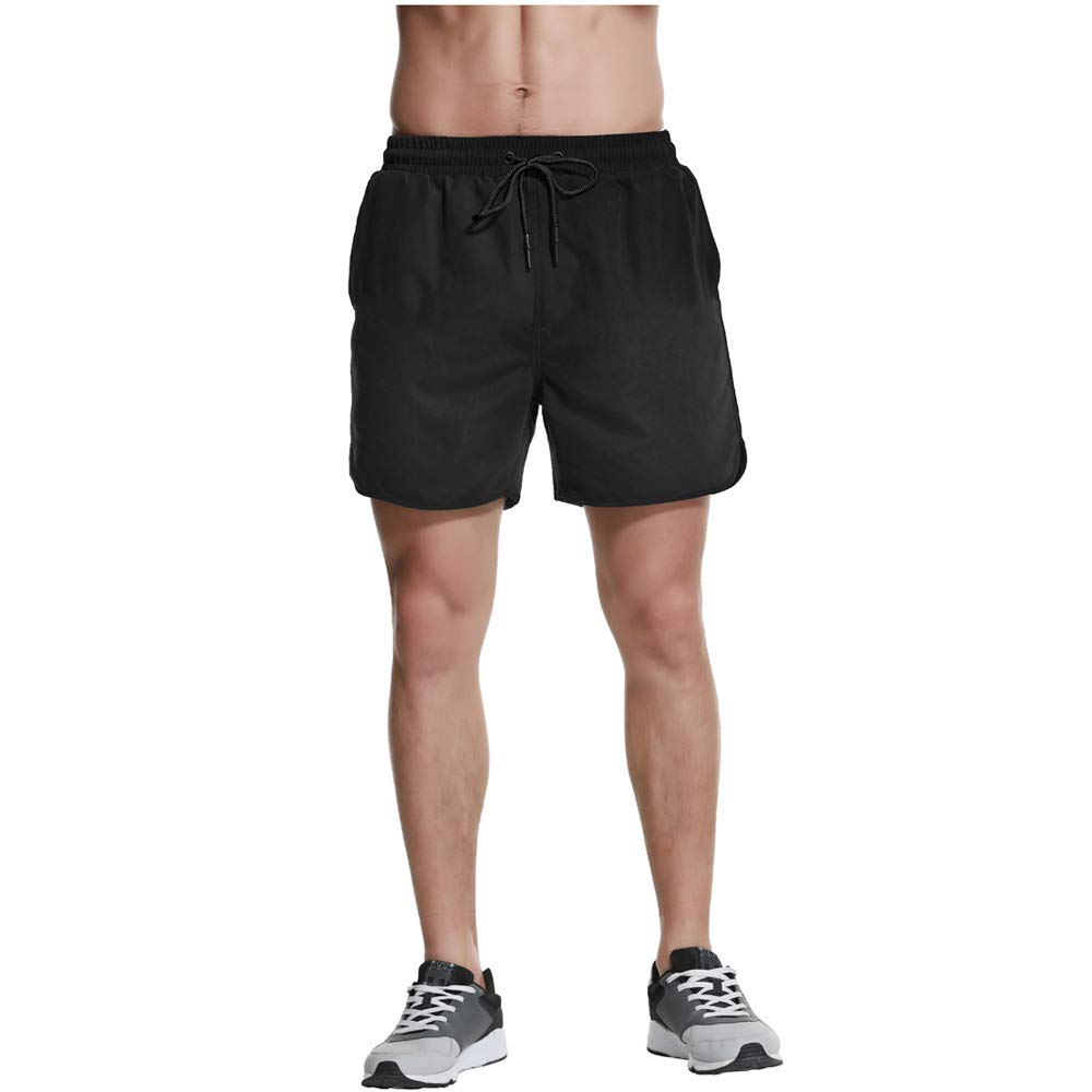 Fung-Wong Mens Swimming Trunks Quick Dry Beachwear Surf Board Shorts with Mesh Lining Pockets