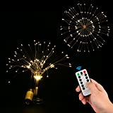 STYDDI LED Starburst Fairy String Lights, 8 Modes 150 LED Firework Spray Bouquet Shape Battery Operated Decorative Lights with Remote Control for Bedroom, Corridor Patio, Garden, Patio, Wedding, Part