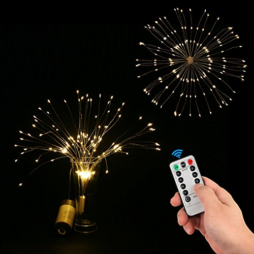 STYDDI LED Starburst Fairy String Lights, 8 Modes 150 LED Firework Spray Bouquet Shape Battery Operated Decorative Lights with Remote Control for Bedroom, Corridor Patio, Garden, Patio, Wedding, Part by STYDDI