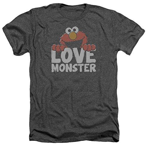 Sesame Street- Elmo Love Monster T-Shirt Size M (Street T-shirt Sesame Loves Elmo)