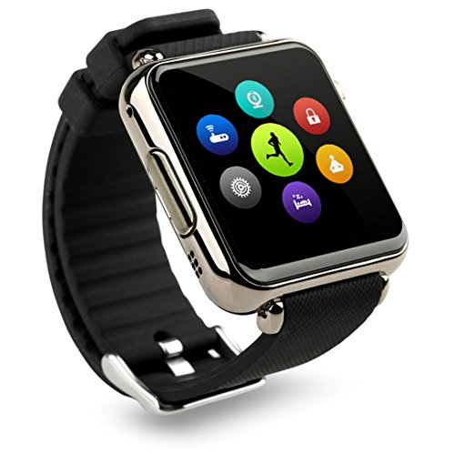 Price comparison product image Bluetooth Smart Watch Black Case with SIM SLOT Camera works with Android phones