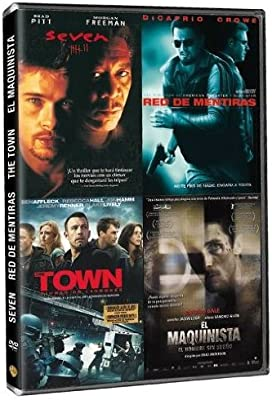 Pack: Seven + Origen + The Town + El Maquinista [DVD]: Amazon.es: Ben Affleck, Brad Pitt, Christian Bale, Gwyneth Paltrow, Leonardo DiCaprio, Russell Crowe, Ben Affleck, Brad Anderson, Ben Affleck, Brad Pitt: