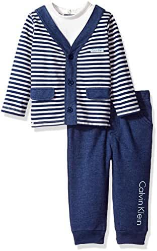 Calvin Klein Baby Boys' 2 Pc Pant Set with Vest