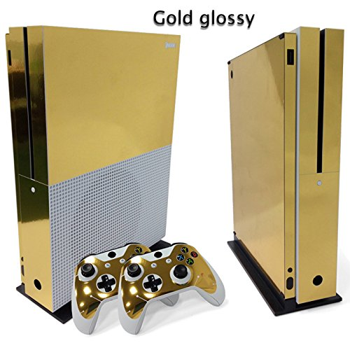 Gam3Gear Vinyl Decal Protective Skin Cover Sticker for Xbox One S Console & Controller - Gold