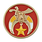 "Shriner Round Red Masonic Auto Emblem - 3"" Diameter"