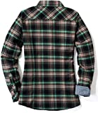 CQR Women's Plaid Flannel Shirt Long