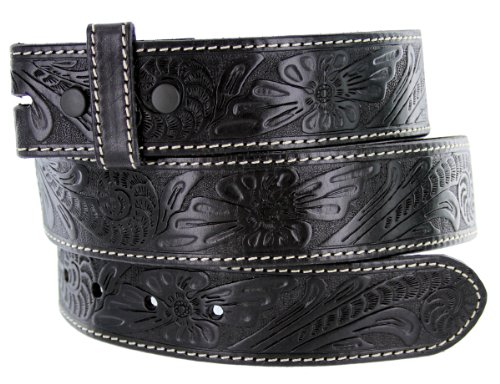 BS118 Men's Western Floral Engraved Tooled Leather Belt Strap 1.5