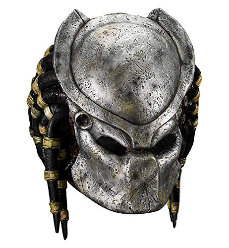 Deluxe Predator Mask with Detachable Faceplate Costume Accessory (Mask With Removable Predator)