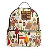 School Backpack for Boys Girls Horse Tree Cactus College Students Women Bag