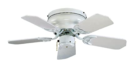 Royal Pacific Lighting 1064WW Traditional Royal Knight Hugger III 1063WW 5  Blade Transitional Ceiling Fan,