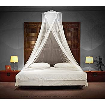 LUXURY MOSQUITO NET - for Single to King Size Beds - by Timbuktoo Mosquito Nets - Quick and Easy Installation System - Unique Internal Loop - 2 Entries ... & Amazon.com: Boho u0026 Beach Luxury Mosquito Net Bed Canopy + Bonus ...