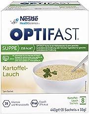 OPTIFAST CONCEPT Dieetsoep, aardappelluik om af te vallen, eiwitrijke maaltijdvervanger met belangrijke vitaminen en mineralen, snel bereid en lekker van smaak, 8 x 55 g