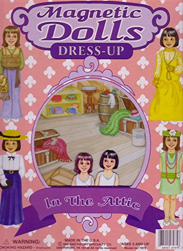 Magnetic Dolls Dress-up in the Attic, BULK PACK of 6 individually packaged sets, GREAT VALUE