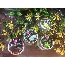 Herbal Care Balm Ointment Rub for Pain Stress Relief Relieveing Inhaler Nasal Congestion, Vertigo Dizziness Stuffy Nose Relief: 1 Set of 4 Jars of Jasmine, Lemongrass, Aloe Vera, Lavender balms