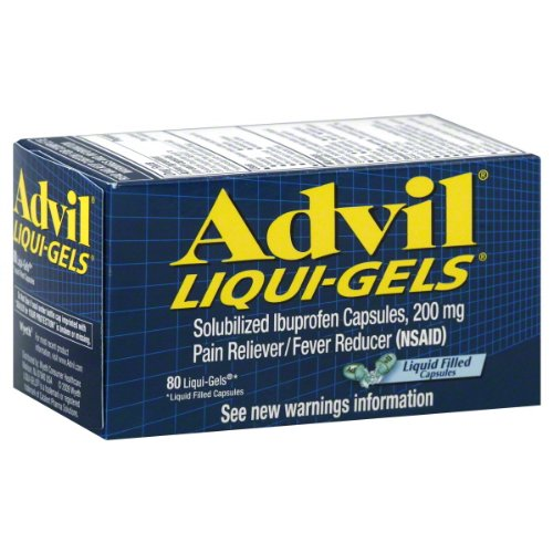 Advil Liqui-Gels 200 mg Pain Reliever/Fever Reducer 80
