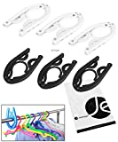JAVOedge (6 PACK) - 3 Black and 3 White Color Compact Foldable Hanger for Suitcase, Vacation, Travel Accessories