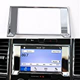 For Ford F150 2015-2017 ABS Car Radio Stereo Fascia Panel GPS Navigation Refitting Frame Cover Trim Stickers (chrome silver)