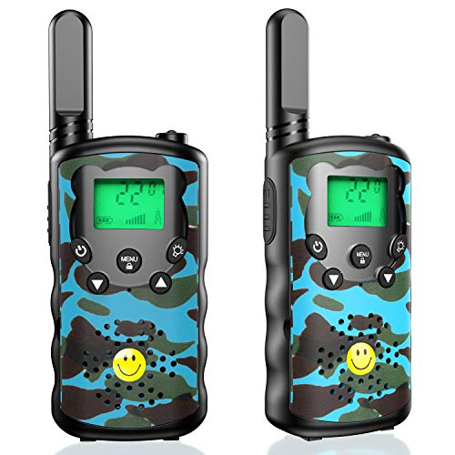 NEHOPE Walkie Talkies for Kids Adults,4 Mile Long Range,22 Channel 2 Way Radio & Handheld Kids Walkie Talkies,Best Gifts Toys for Boys & Girls for Outdoor Adventure Game