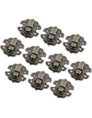 10 Pcs Box Latch Clasps with 40 Screws Iron Cabinet Hasp for Jewelry Wooden Box Case Decorative Hasp Latch Buckle, Antique Bronze