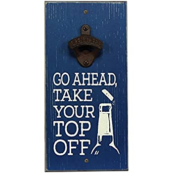 3ebd85329561 Amazon.com: Engraved Take Your Top Off Wood Board With Gun Blue ...