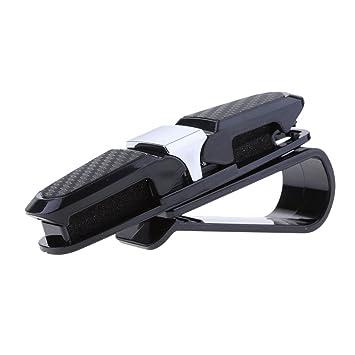 Gleichzeitig 2 Brillen und 1 Visitenkarten Befestigung Sharplace Auto Brillenclip Sonnenbrillenhalterung Brillenablage f/ür Sonnenblende Grau
