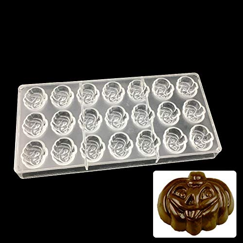 Polycarbonate Chocolate Mold - Halloween Pumpkin Shaped Polycarbonate Chocolate Mold Cartoon Pe Candy - Sphere Egg Square Hemisphere Bar Christmas Dome Assorted Heart Tablet -