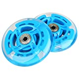 Kutrick 2 Scooter Wheels 100mm Pair LED Scooter with ABEC 9 Bearings for Razor Scooter 100mm A