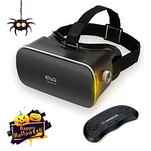 """Immersive 3D Video / Game Headset Gifts Choice, Ultra-light Fashionable VR Virtual Reality Glasses with Remote Controller Fit for 4.8"""" - 6.0"""" iPhone & Andrid Smartphones"""