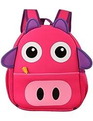 JJ Store Kids Boys Girls School Bag Pig Animal Backpack Satchel School Book Bag