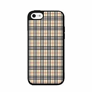 Fashion Plaid - TPU Rubber Silicone Phone Case Back Cover (iPhone 5c - TPU Rubber Silicone) includes diy case Cloth and Warranty Label