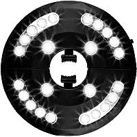 Usmascot - Luces para Sombrillas, 3 Modos de Brillo, 24 LED, Funciona con 4 Pilas AA, Lámparas de Noche Inalámbricos…