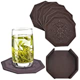Coasters,Set of 6 with Holder,Unique Octagonal Coffee Drink Coasters by CloudLyMo