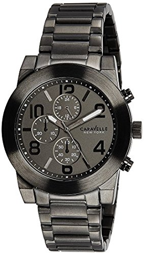 Caravelle New York Men's Quartz Stainless Steel Casual Watch, Color:Grey (Model: 45A124)