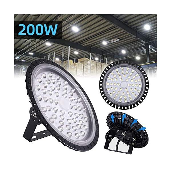 USA LED High Bay Light 200W Watt Warehouse Led Shop Lighting Fixture UFO 16000LM