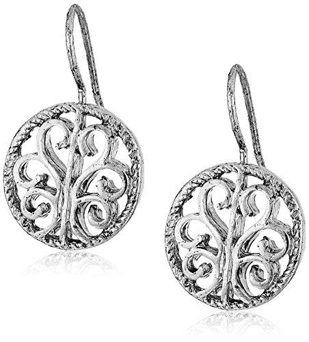 1928 Jewelry Round Drop Earrings
