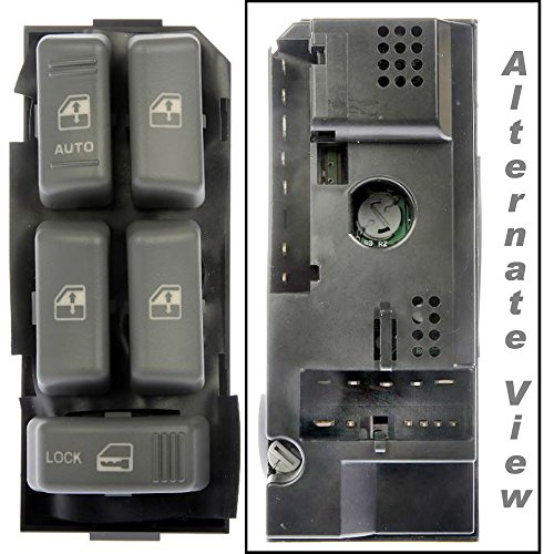 APDTY 012132 Master Power Window Switch Fits Select 1995-2005 Cadillac, Chevrolet, GMC, Oldsmobile (Front Left Driver-Side; Check Vehicle Chart To Ensure Proper Fitment Replaces 19244658, (Jimmy Drivers Side Power Window)
