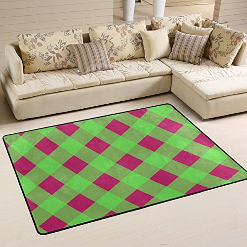 Amazon.com: DEYYA Modern Polyester Fabric Area Rug,Green