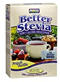 Now Foods French Vanilla Stevia, 75 Ct, 3 Pack