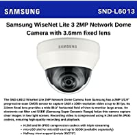 SS414 - SAMSUNG SND-L6013 2 MEGAPIXEL CCTV NETWORK POE DOME CAMERA 3.6MM FIXED LENS H.264, MJPEG MOTION DETECTION DAY & NIGHT SSNR