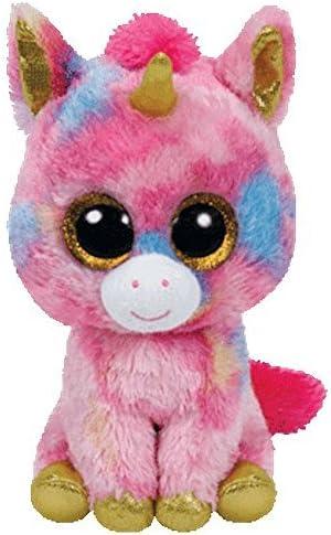 "Ty 9/"" Medium Fantasia the Unicorn Beanie Boos Plush Stuffed Animal w// Heart Tags"