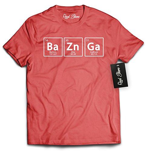 Bazinga Chemical Element Big Bang T-Shirt (Medium, Red) -